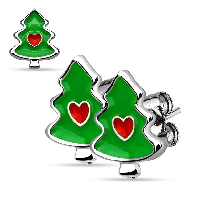 Stainless Steel Holiday Earrings - Choose Style