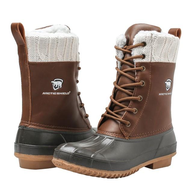 ArcticShield Women's Debra Waterproof Insulated Rain Snow Duck Bean Boots