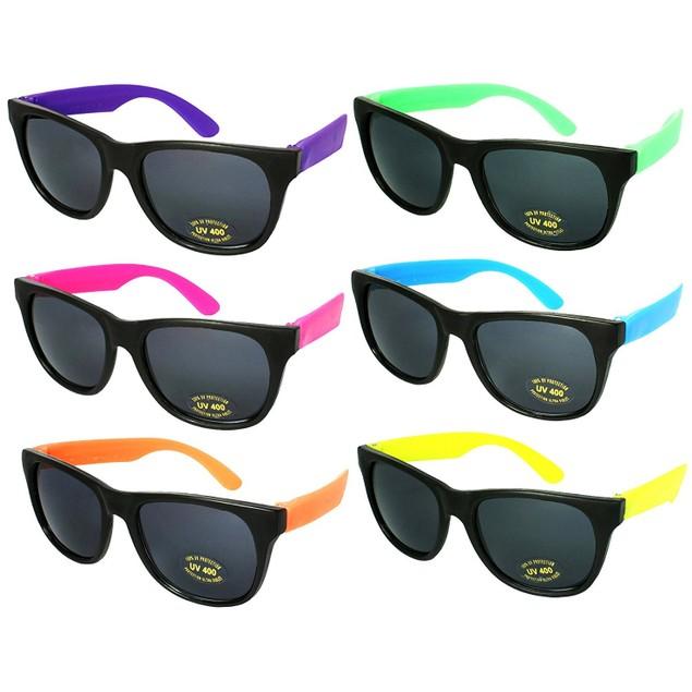 6 Pack Neon Sunglasses