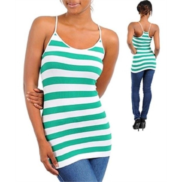 Finesse Spaghetti Strap Green Top