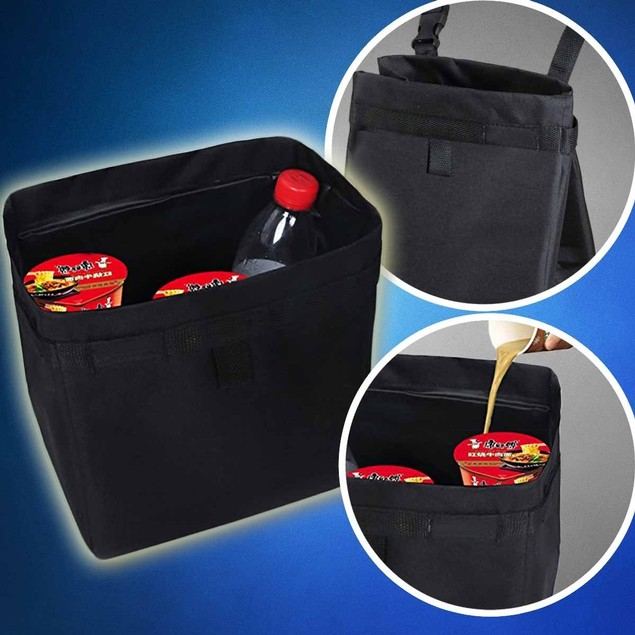Zone Tech Leakproof Car Vehicle Trash Litter Storage Bag Orgnizer
