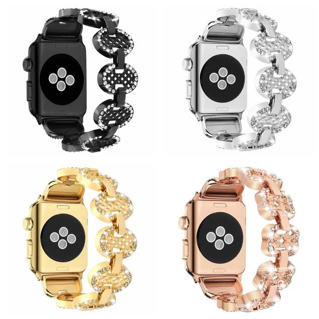 Waloo Bling Rhinestone Apple Watch Band for All Series