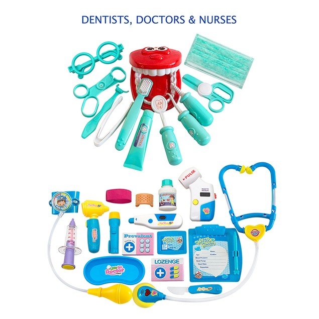 Educational Doctor Medical Pretend Play Toy Set in Storage Box 34 Pcs