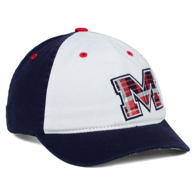 "Ole Miss Rebels NCAA Zephyr ""Women's Washed Plaid"" Adjustable Hat"
