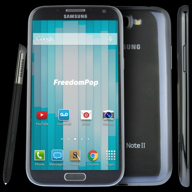 100% Free Phone Service with Samsung Galaxy Note II
