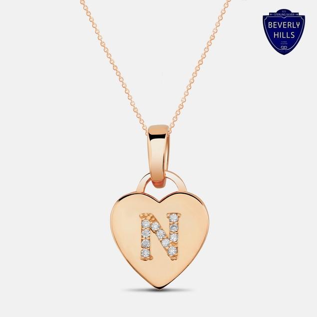 Designer Inspired Rose Gold Plated Pendant