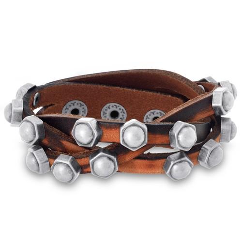 Octavius Criss Cross Braided Studded Bracelet