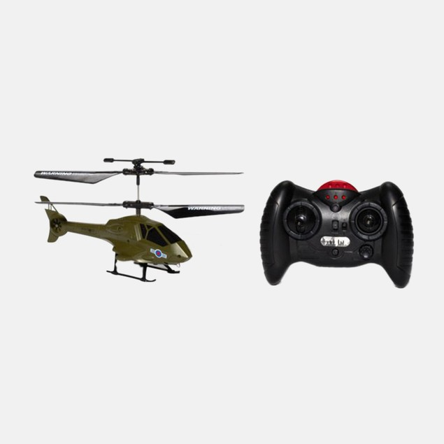 Apollo Military Green Micro 2CH IR RC Helicopter