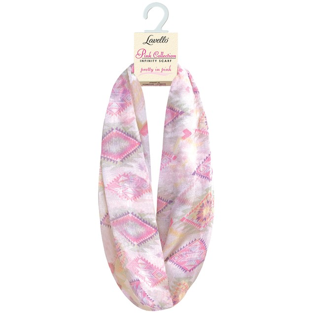 3-Pack Pink Collection Infinity Scarves