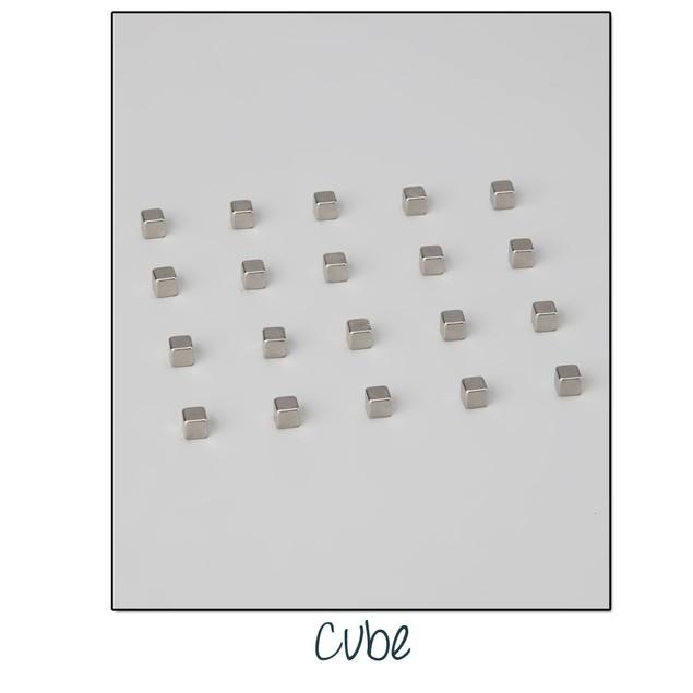Set of 20 Mini Ultra Magnets - 2 Shapes