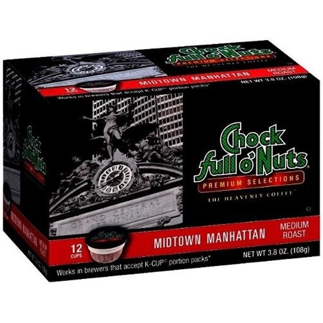 Chock Full O' Nuts Midtown Manhattan Coffee Keurig K Cups