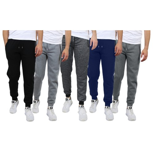Men's Skinny Fit French Terry Joggers with Tech Zipper Pockets (Sizes, M-2XL)