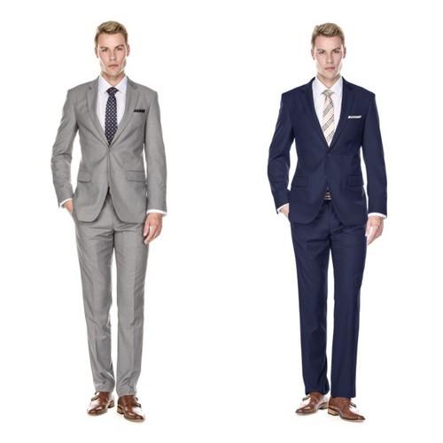 2-Piece Braveman Men's Classic Fit Suits- Multiple Colors