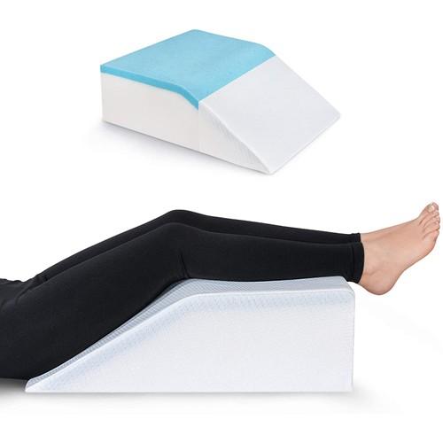 Leg Elevation Pillow with Cooling Gel - Memory Foam Leg Rest