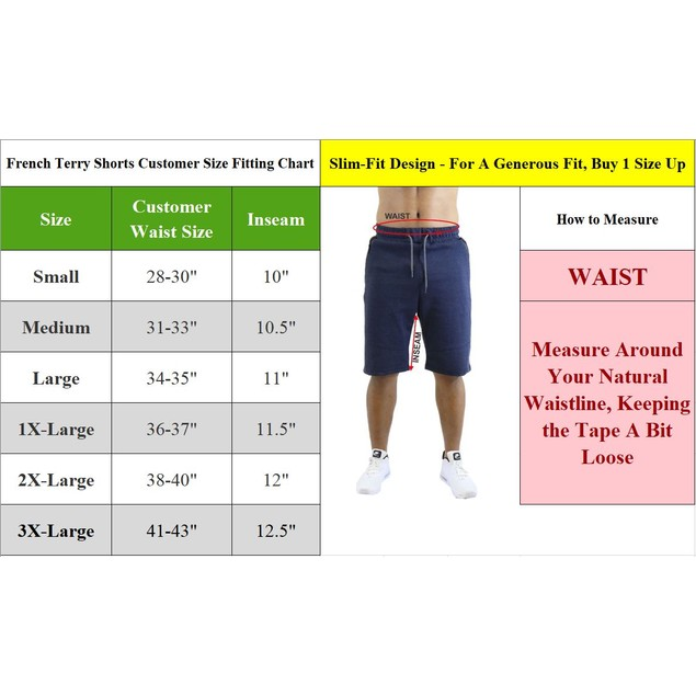 Men's Slim-Fit Marled French Terry Shorts w/ Zipper Pockets