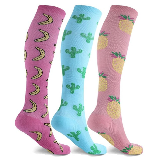 3-Pack Women's Compression Knee-High Socks