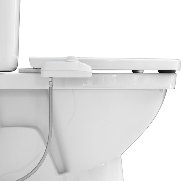 Fresh Water Bidet Toilet Seat Attachment w/ Self-Cleaning Water Jet