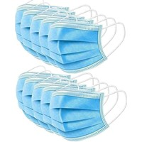 200 Pack: Disposable 3 Layer Face Masks