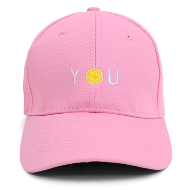 "Smiley ""You"" Embroidered Baseball Cap"
