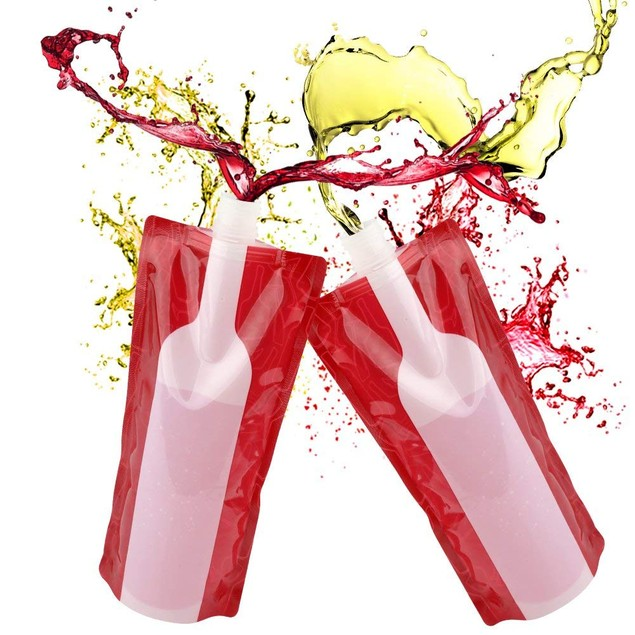 Wine On The Run Reusable and Foldable Wine Flask