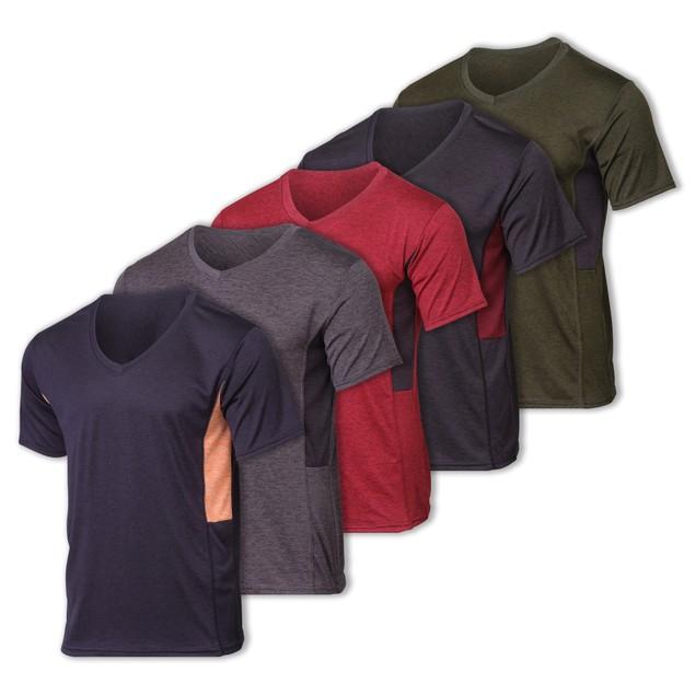 Mens 5-pk Dry Fit Active V-Neck Shirt (S-3X)