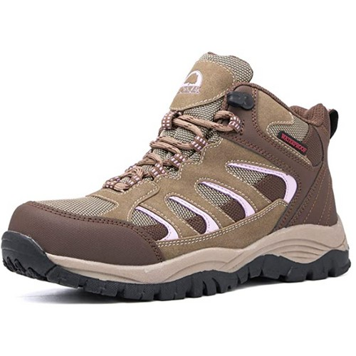 Brown Oak Womens Waterproof Outdoor Casual Trekking Camping Backpacking Shoes Work Hiking Boots