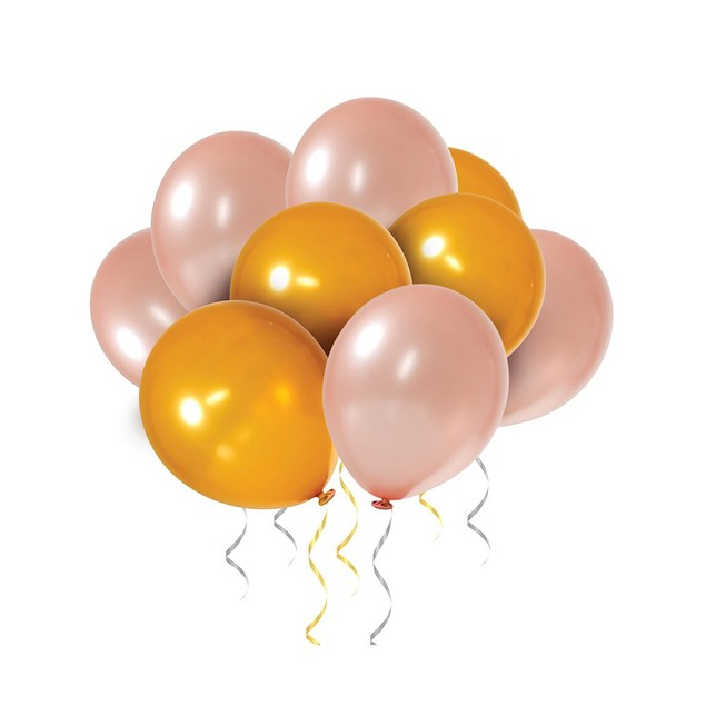 60-Pack Gold & Rose Gold Balloons