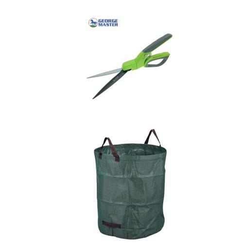 50 Gallon Polypropylene Gallons Garden Bag w/ Swivel Pruner Grass Shears