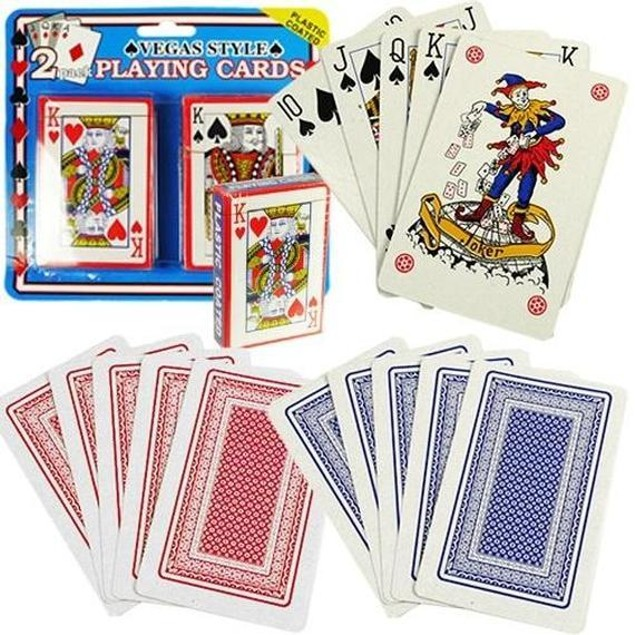 2-Pack Plastic Coated Playing Cards
