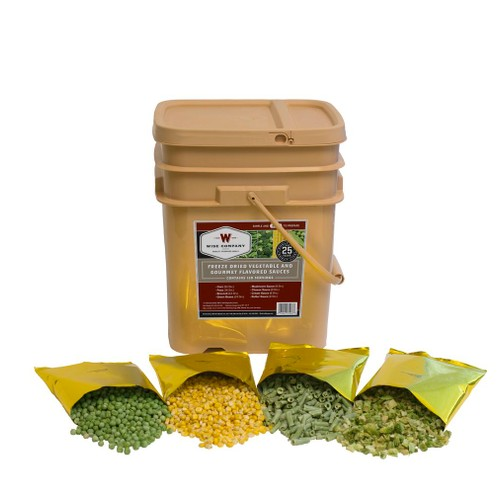 Wise Foods - 120 Serving Freeze Dried Vegetable and Gourmet Flavored Sauces
