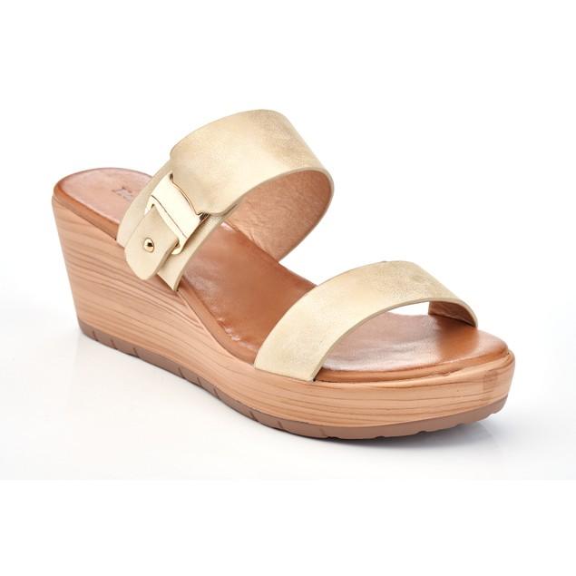 Henry Ferrera Women's Wooden Clog Wedge Sandals