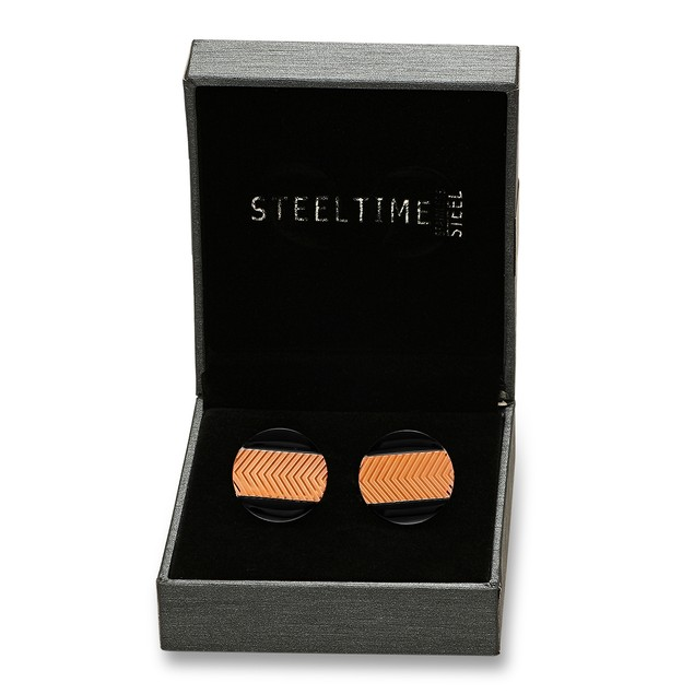 Box Set Black IP and 18k Gold Plated Cufflinks