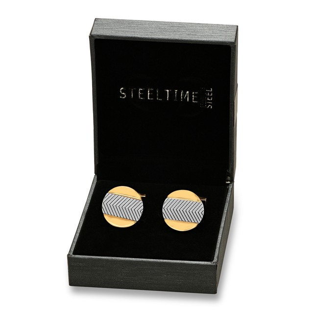 Box Set 18k Gold Plated and Stainless Steel Cufflinks