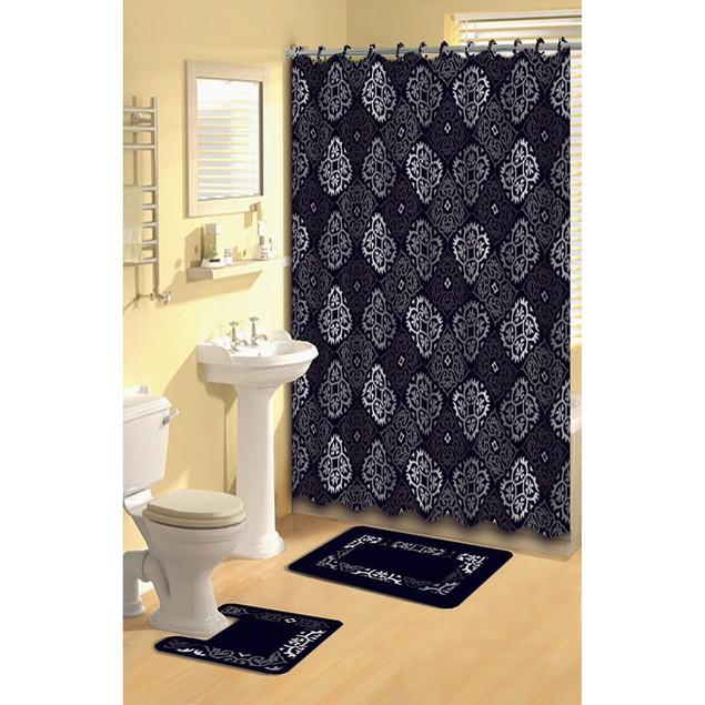 Bath Boutique Polyester 15-Piece Bathroom Set