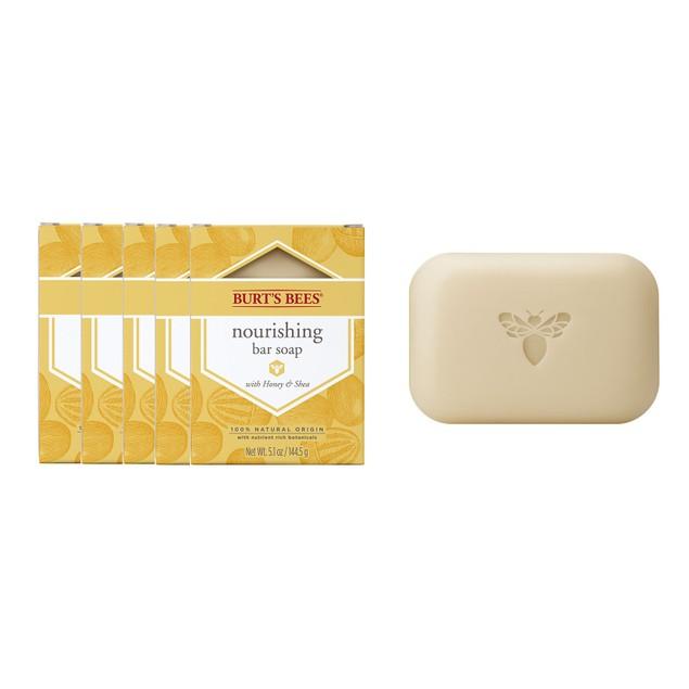 5-Pack Burt's Bees Nourishing Bar Soap w/ Honey & Shea