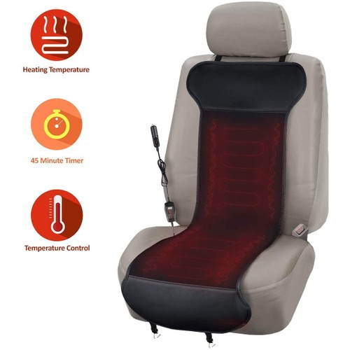 Zone Tech Car Heated Seat Cover Cushion with Temperature Control- Premium Quality