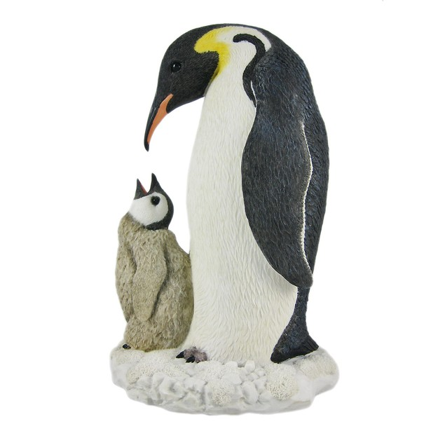 Mother And Child Penguin Statue Baby Chick Statues