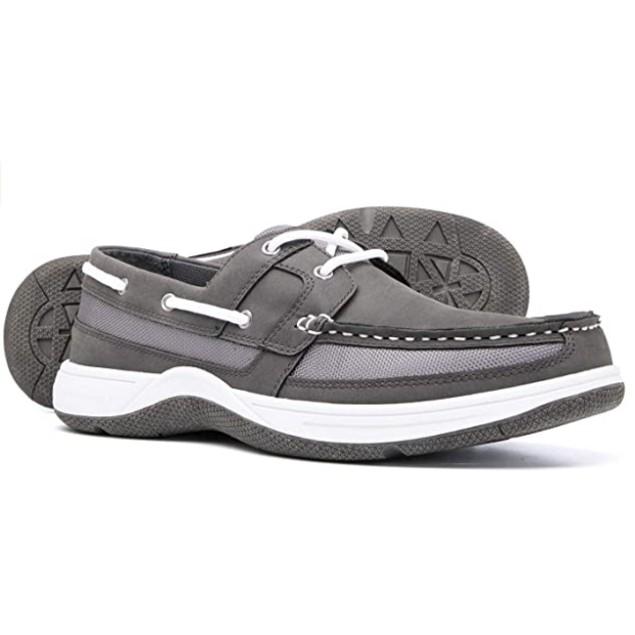 Brown Oak Mens Casual Memory Foam Comfort Slip on Boat Shoes