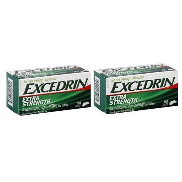 Excedrin Extra Strength 500 mg Caplets 2 Bottle Pack