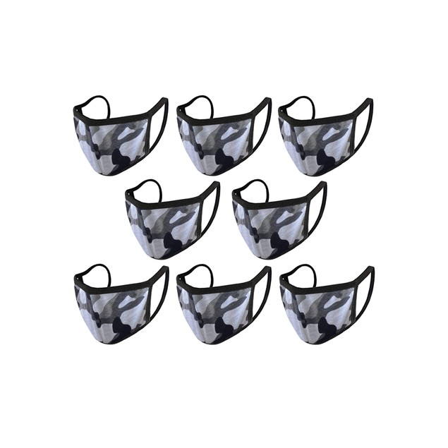 8-Pack Reusable Washable Earloop Cotton Fabric 2-Ply Mask- 7 Colors