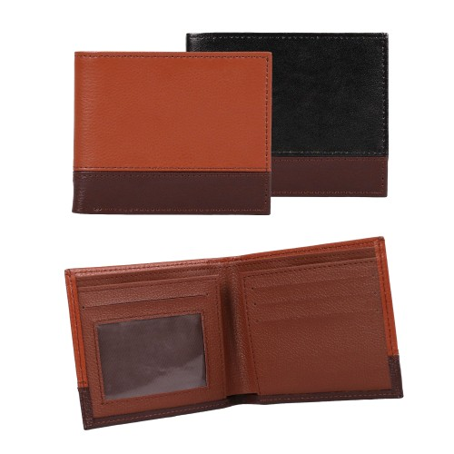2-Tone Dress Leather BiFold Executive Wallet