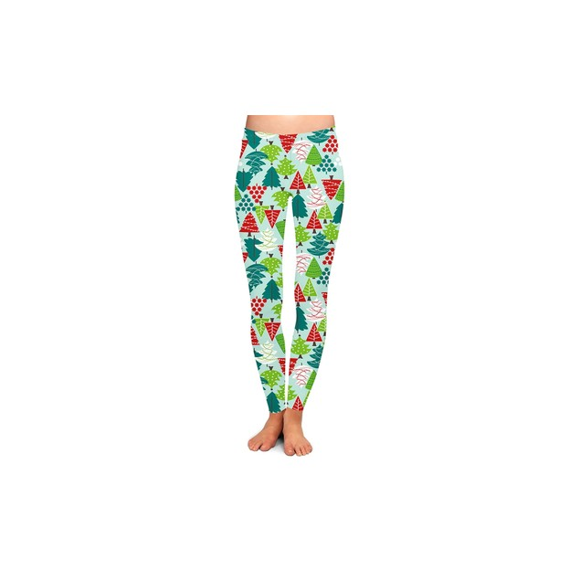 3-Pack Women's Holiday-Themed Printed Leggings