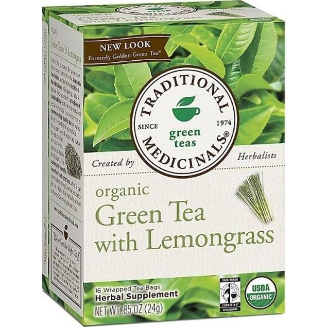 Traditional Medicinals Teas Organic Green Tea with Lemongrass