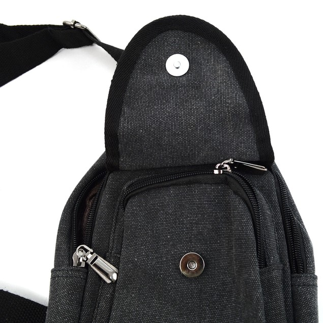 Crossbody Canvas Sling Bag Backpack with Adjustable Strap