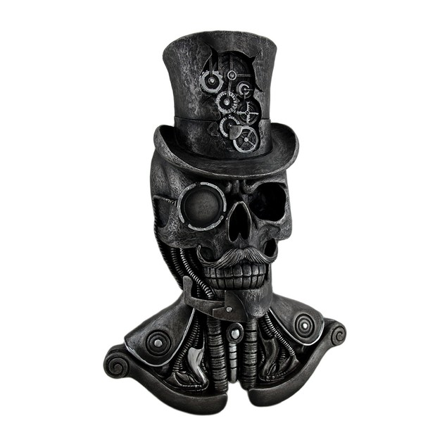 Machinations Skeletal Steampunk Gentleman Wall Statues