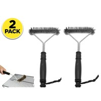 2 Pack Grill Brush & BBQ Cleaning Scraper
