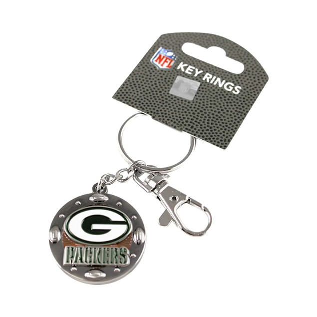 NFL Sports Team Keychain Id/Key Ring Swivel Clip Photo Holder