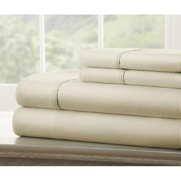 Becky Cameron 4 Piece Chevron Bed Sheet Set