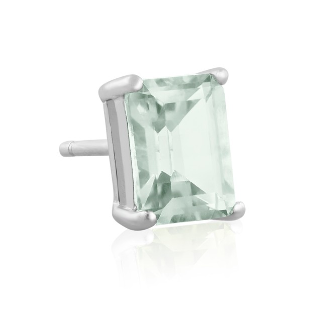 2 1/2ct Green Amethyst Earrings In Sterling Silver