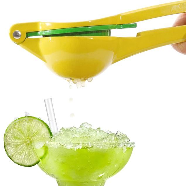 2-in-1 Citrus Juicer, Lemon/Lime Squeezer, Aluminum Manual Press